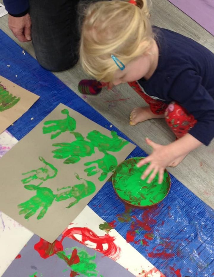 messy christmas with little learners