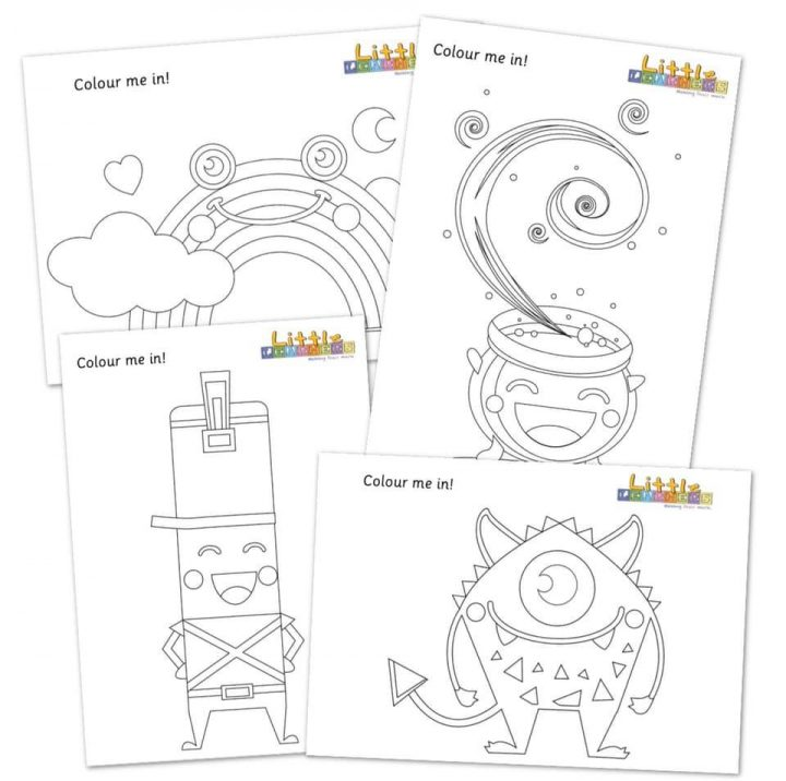 the mark makers colouring sheet