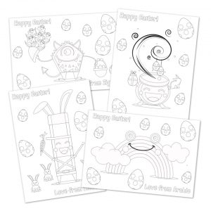 The Mark Makers Easter Colouring Sheet