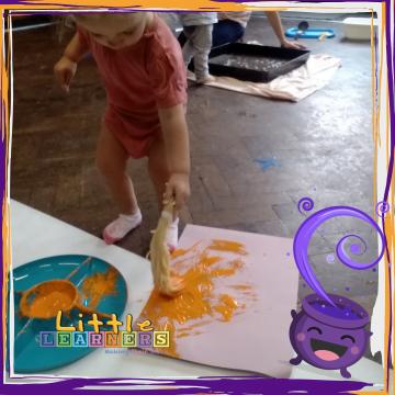 Spaghetti Activity Idea with Paint