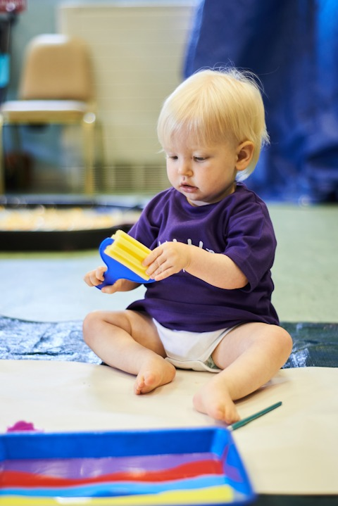 Face of Little Learners - Messy Play