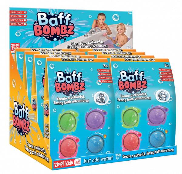 4 pack Bath Bombs